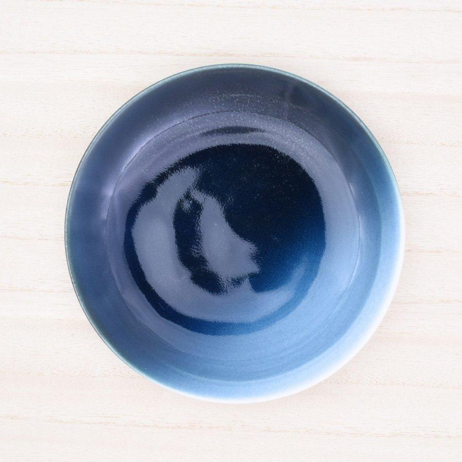 砥部焼・ヨシュア工房 − 5寸皿 内青
