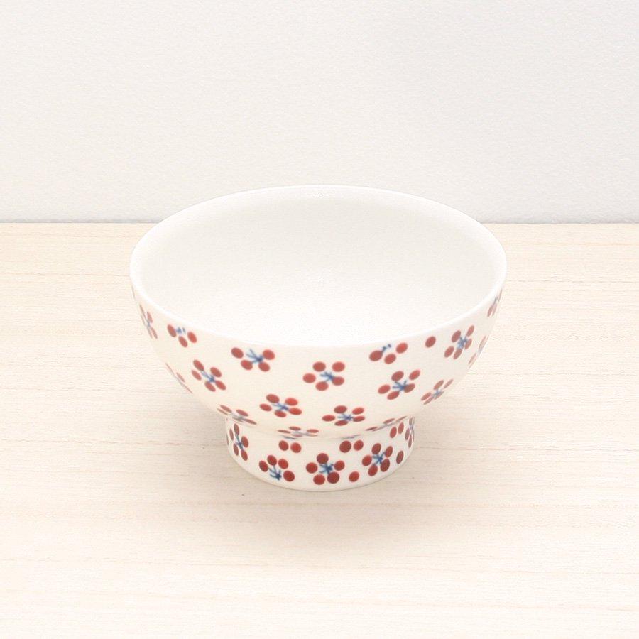 砥部焼・すこし屋 − 茶碗 小 赤小紋