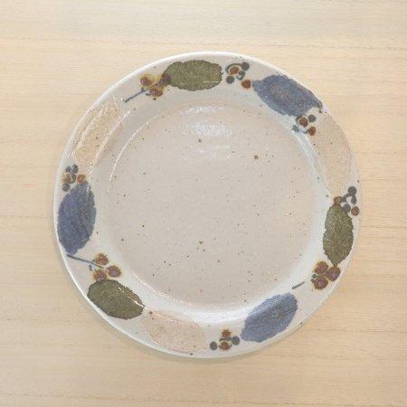 砥部焼・森陶房 − リム皿 大 木の葉