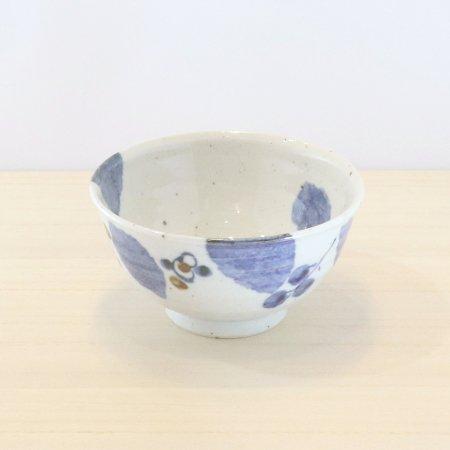 砥部焼・森陶房 − 茶碗 大 ブルー木の葉