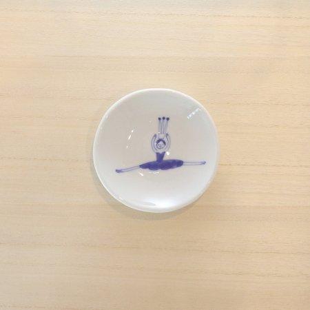 砥部焼・森陶房 − 丸小皿 バレリーナ ブルー グランジュテ