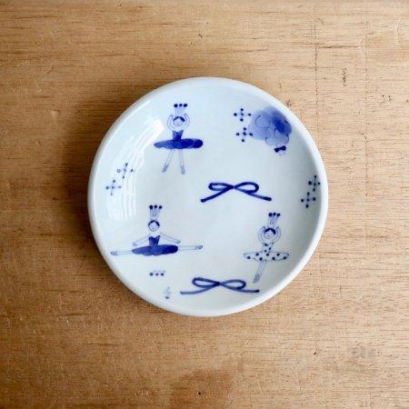 砥部焼・森陶房 − 銘々皿(小) バレリーナ