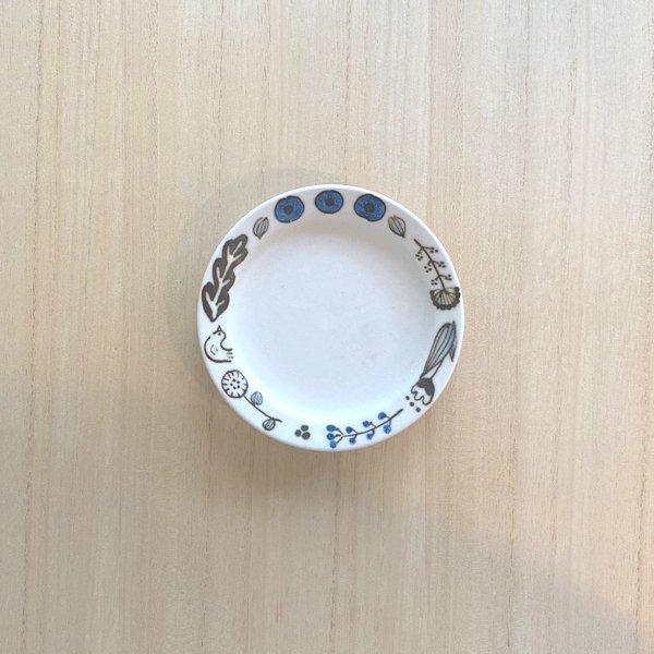 砥部焼・すこし屋 − 豆皿 さんぽみち 青