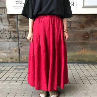 【Swarm】<br> 広がらない<br>リネンプリーツスカート