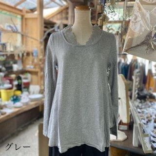 【D*g*y】<br>M,L,LL3Lあり<br>襟レースTシャツ