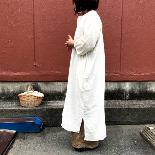 【Fanaka】30%off<br>Vネックコットン<br>ワンピース