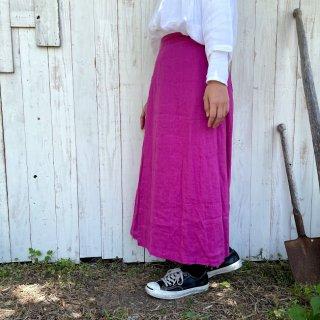 【YARRA】<br>広がらないラップ<br>リネンスカート