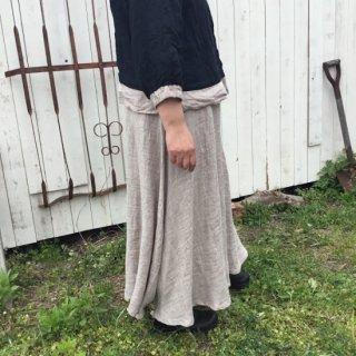 【D*g*y】M、L<br>スラブリネン<br>ロングスカート