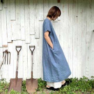 【blue willow 】<br >リネンフレア <br>ワンピース