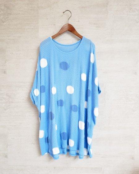 水玉模様の大人かわいいリラックTシャツ