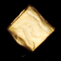 ゴールドプレイテドブラスチューブ6X6mm