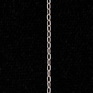 【40%OFF¥194→¥117】アンティークシルバープレーテドブラスロングキューブチェーン1mm