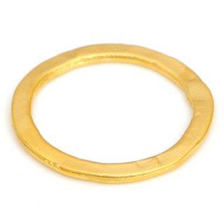 ゴールドプレーテドメタルリング3