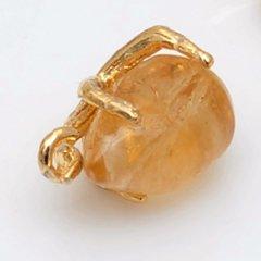 ゴールドメッキブラスクロウクロウペンダント1