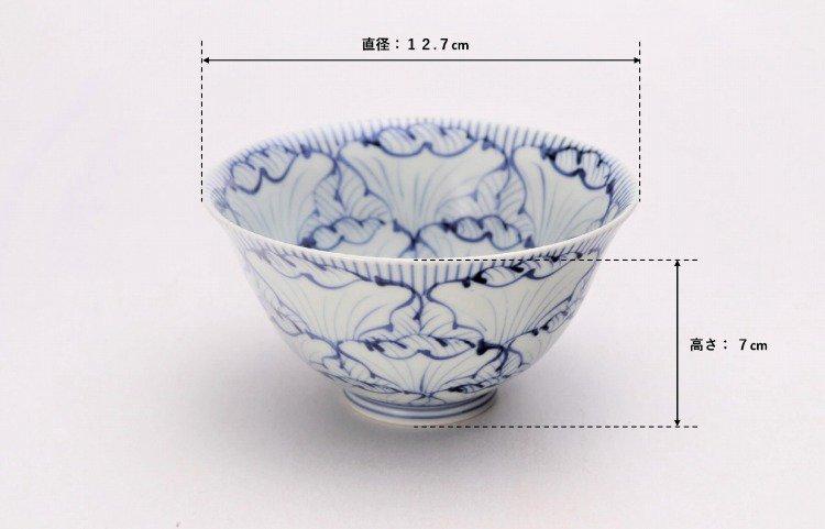 ☆そうた窯 染付花弁紋 ASA飯碗 画像サブ6