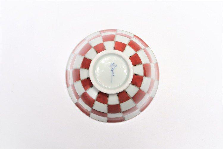 ☆そうた窯 染錦赤市松 ASA飯碗 画像サブ5
