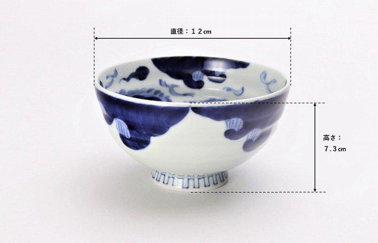 ☆そうた窯 染付龍雲(手) 茶付(小) 画像サブ8