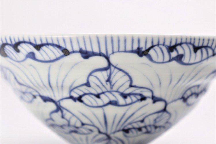 そうた窯 染付花弁紋(手) 大茶付 画像サブ2