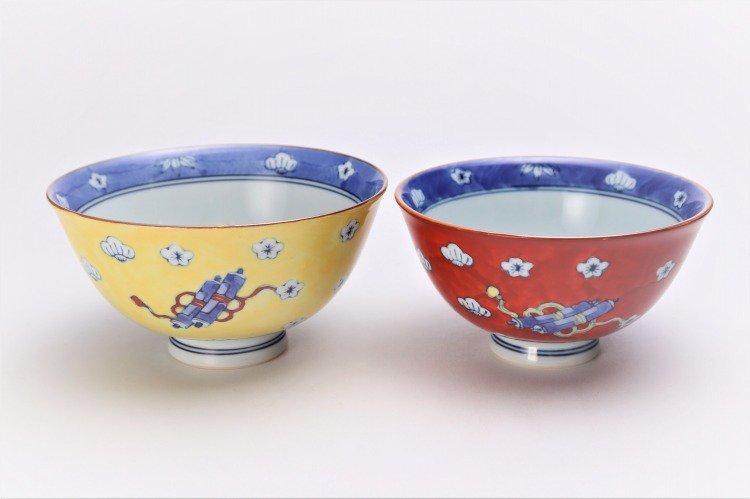 ☆徳七窯 染錦赤濃宝袋 茶付(小) 画像サブ11