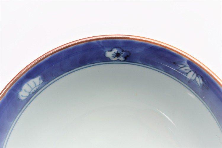 ☆徳七窯 染錦赤濃宝袋 茶付(小) 画像サブ8