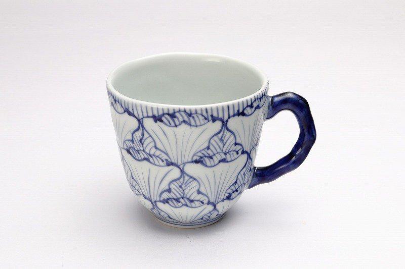 そうた窯 染付花弁紋 マグカップ(青) 画像メイン