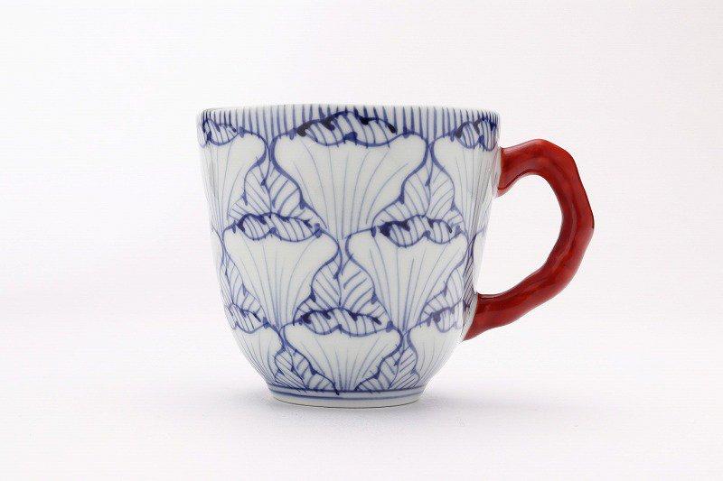 そうた窯 染付花弁紋 マグカップ(赤) 画像サブ1
