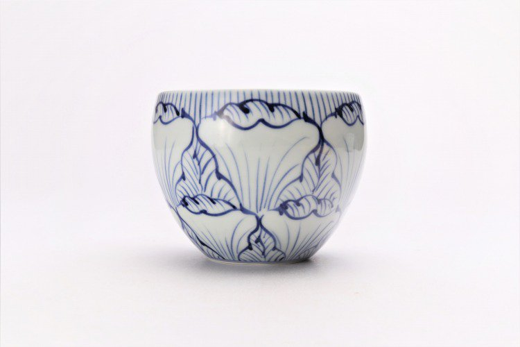 そうた窯 染付花弁紋 丸スープカップ(青) 画像サブ2