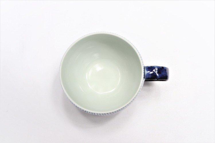 そうた窯 染付花弁紋 丸スープカップ(青) 画像サブ4
