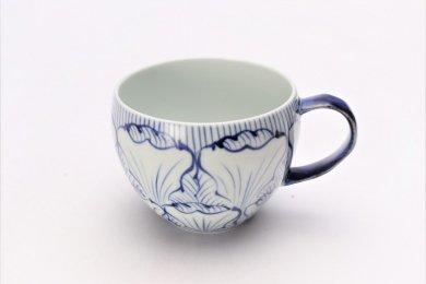 ☆そうた窯 染付花弁紋 丸スープカップ(青)