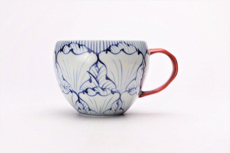 そうた窯 染付花弁紋 丸スープカップ(赤) 画像サブ1