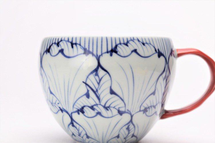 そうた窯 染付花弁紋 丸スープカップ(赤) 画像サブ3