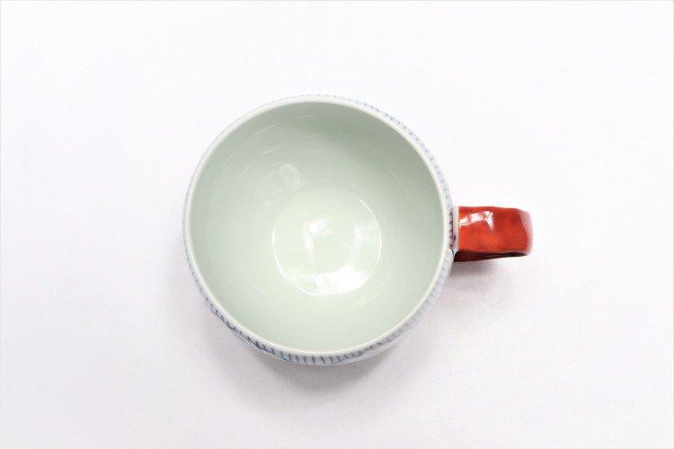 そうた窯 染付花弁紋 丸スープカップ(赤) 画像サブ4