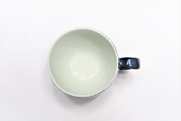 そうた窯 染付蛸唐草 丸スープカップ(青) 画像サブ3
