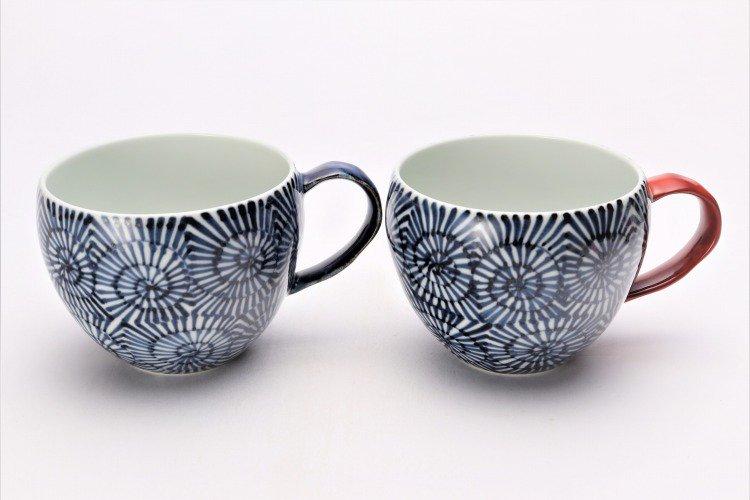 そうた窯 染付蛸唐草 丸スープカップ(青) 画像サブ6
