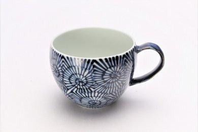 ☆そうた窯 染付蛸唐草 丸スープカップ(青)
