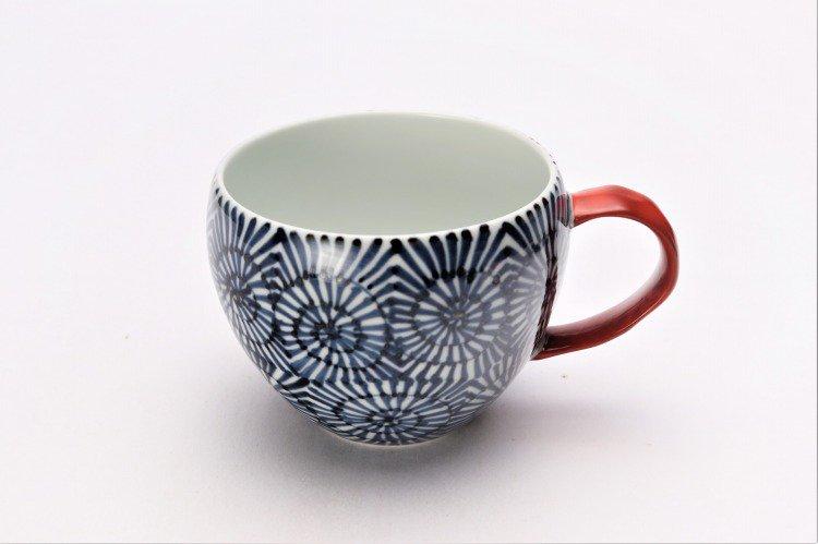 そうた窯 染付蛸唐草 丸スープカップ(赤) 画像メイン