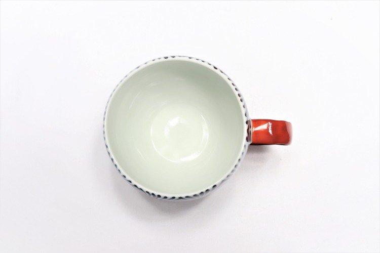そうた窯 染付蛸唐草 丸スープカップ(赤) 画像サブ3