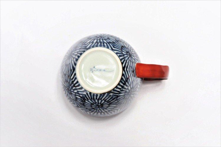 そうた窯 染付蛸唐草 丸スープカップ(赤) 画像サブ4