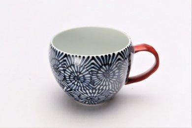 ☆そうた窯 染付蛸唐草 丸スープカップ(赤)