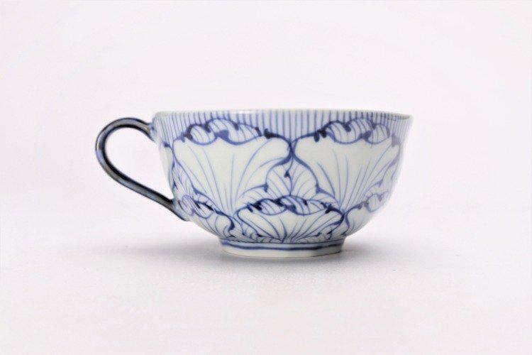 そうた窯 染付花弁紋 スープカップ(青) 画像サブ2