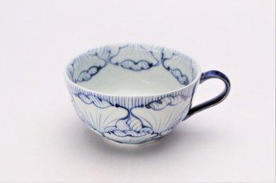 ☆そうた窯 染付花弁紋 スープカップ(青)