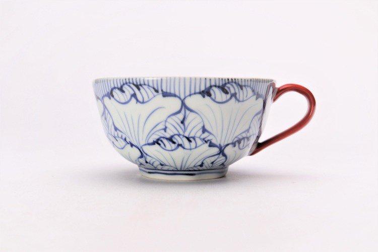 そうた窯 染付花弁紋 スープカップ(赤) 画像サブ1