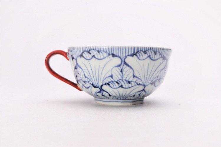 そうた窯 染付花弁紋 スープカップ(赤) 画像サブ2