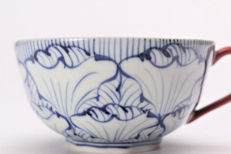 そうた窯 染付花弁紋 スープカップ(赤) 画像サブ3
