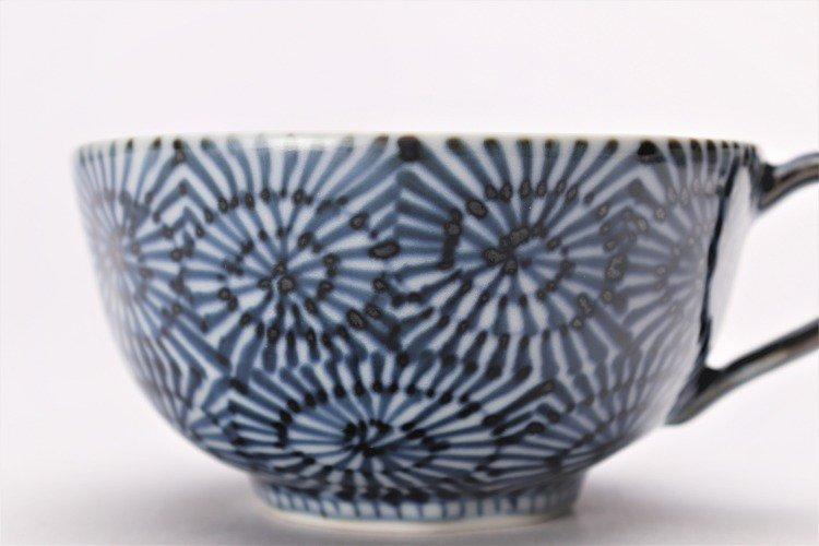 そうた窯 染付蛸唐草 スープカップ(青) 画像サブ3