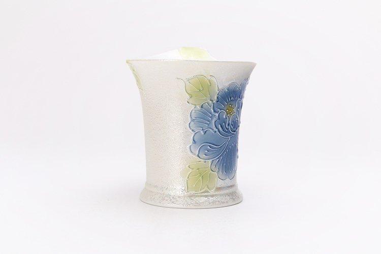 文山窯 青牡丹パールラスター 流転マグカップ 画像サブ2