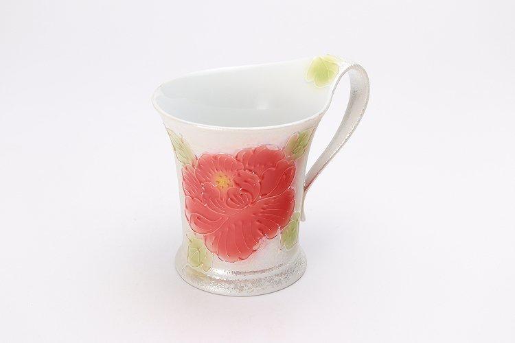 ☆文山窯 赤牡丹パールラスター 流転マグカップ 画像メイン