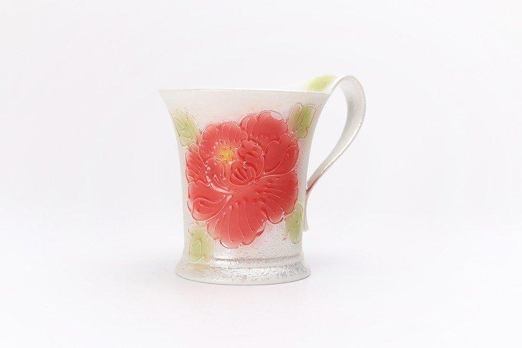 ☆文山窯 赤牡丹パールラスター 流転マグカップ 画像サブ1