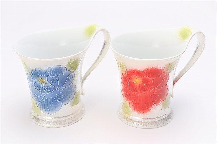 ☆文山窯 赤牡丹パールラスター 流転マグカップ 画像サブ10