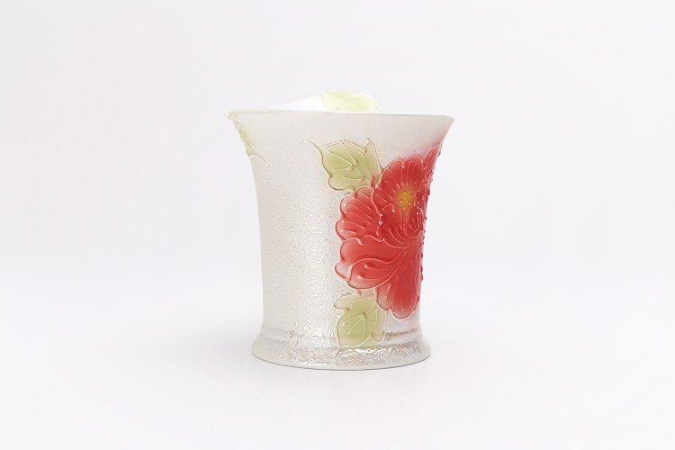☆文山窯 赤牡丹パールラスター 流転マグカップ 画像サブ3